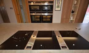 the bora induction hob on the centre island has built in worktop