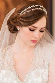 wedding hair veil wedding hairstyles with veil obniiis