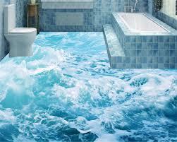 3d ocean floor designs beibehang ocean wave water pattern 3d flooring fashion three