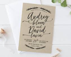 handwritten wedding invitations greenery wedding invitation setprintable simple wedding