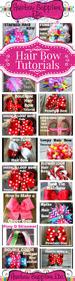 bow supplies 50 free hair bow tutorials hair bow made easy