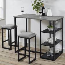 Bar Table And Stool Set Grey Bar Table Wayfair