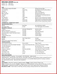 Movie Theatre Resume 100 Beginner Resume Template Acting Cv 101 Beginner Acting