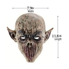 halloween bloody shocking infected zombie latex deluxe mask