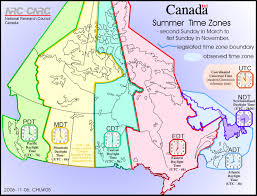 Map Canada Provinces by Time Zones Simply Wild Canada
