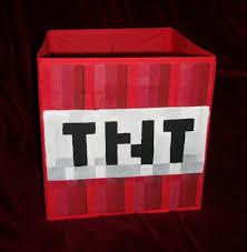 tnt minecraft storage fabric bin hand painted kids game room