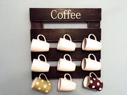 coffee mug holder rustic mug rack coffee cup display rustic