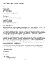 cover letter template for medical assistant