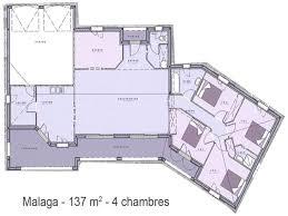 plan villa plain pied 4 chambres plan de maison en v plain pied 4 chambres cuisine recherche plan de
