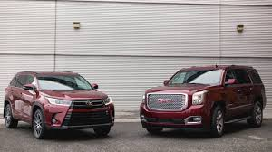 toyota highlander vs nissan pathfinder 2017 toyota highlander vs 2017 gmc yukon denali let u0027s haul some