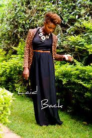 ankara maxi dress style by silvia