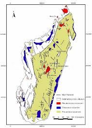 Madagascar Map Map Of Madagascar Showing Major Fractures Volcanism And