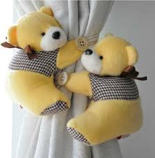 Nursery Curtain Tie Backs by Amazon Com 1 Pair Bear Window Curtain Tieback Buckle Clamp Hook