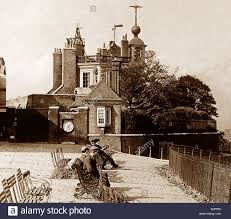 Victorian Time by Greenwich Observatory And Time Ball Victorian Period Stock Photo