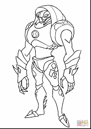 fantastic ben alien force coloring with ben ten coloring pages