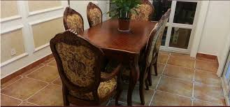 Fabric Chairs For Dining Room by Federal Style Sectional Dining Table With Fabric Chairs For Dining