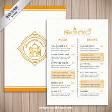 indian menu template indian restaurant template vector free