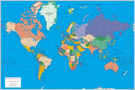 world map image with country names and capitals poster world map and sea ports and airports