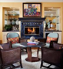 breakfront living room traditional with armchair art art deco