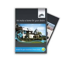 quality real estate design brochure and postcard templates