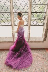 coloured wedding dresses uk a purple ombre and floral wedding dress my dress uk