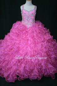 fuchsia kids pageant bridesmaid party dresses ball gown