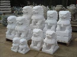 fu dog statues 12 36 inch marble lion foo dogs pair possibly buy