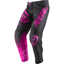 motocross youth gear answer 2017 youth mx new syncron black pink jersey pant girls