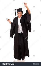 college graduation gown happy college student graduation gown stock photo