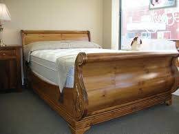 Solid Wood Sleigh Bed King Cherry Sleigh Bed Andreas Pertaining To Residence