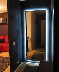 Led Bedroom Lighting Ikea Mirror Transformed With Nightclub Chic Led Lighting Ikea