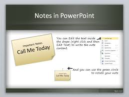 create a sticky note in powerpoint using shapes and styles