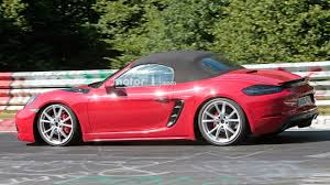 porsche boxster body kit porsche boxster gts spied looking low and fast at the nürburgring