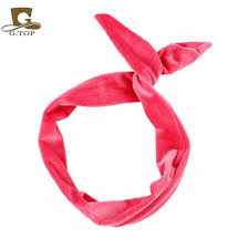 headband with bow online shop cut foldable velvet hair band bow rabbit ear