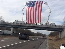 Vanderbilt Flag Linemen Honor Josh Franklin With American Flag Flown Over I 24