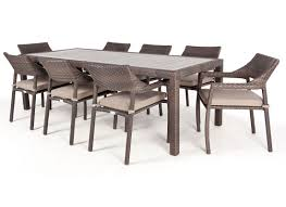 Dining Room Sets For 10 People Ciro Rectangular Synthetic Wood Top Outdoor Dining Table For 8 To