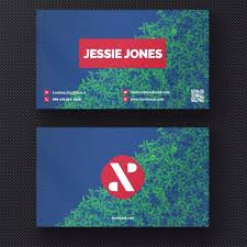 modern green and blue bush business card template free download on