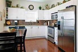 Above Kitchen Cabinets Ideas Greenery Above Kitchen Cabinets Ideas In L Shaped Kitchen Cabinets