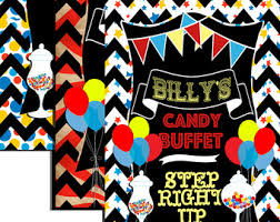 Circus Candy Buffet Ideas by Unique Candy Etsy