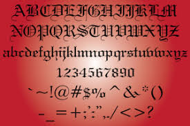 custom old english letters