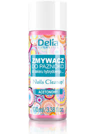 delia nail polish remover for hybrid varnish acetone 100ml