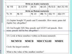 roman numerals up to 1000 ideal for the first lesson ks2 year