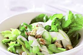 celery rocket and pear salad with blue cheese dressing