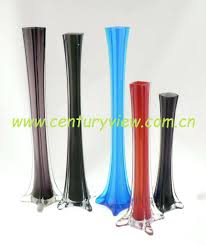 Tower Vases For Centerpieces Eiffel Tower Vase Floral Container 24 Inch Glass Vases Centerpiece