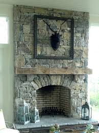 Outdoor Grill And Fireplace Designs - modern stone fireplace mantels living room patio open doors air
