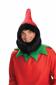 halloween costumes gnome elf gnome dwarf dwarves red hat beard black hair wig costume