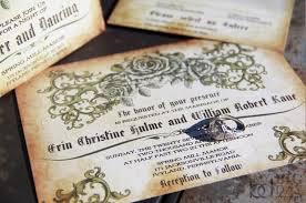 wedding invitations jacksonville fl vintage wedding invitations antique parchment