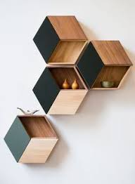 this wooden shelf design is from a retail cosmetics store for