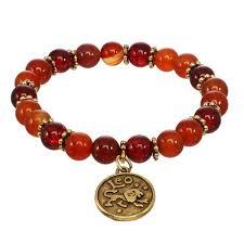 red charm bracelet images Aries leo sagittarius zodiac stretch charm bracelet red water jpg