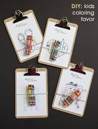 15 budget friendly diy wedding favors kids colouring favors and